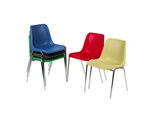 Chaise Coque Plastique Structure Chrome