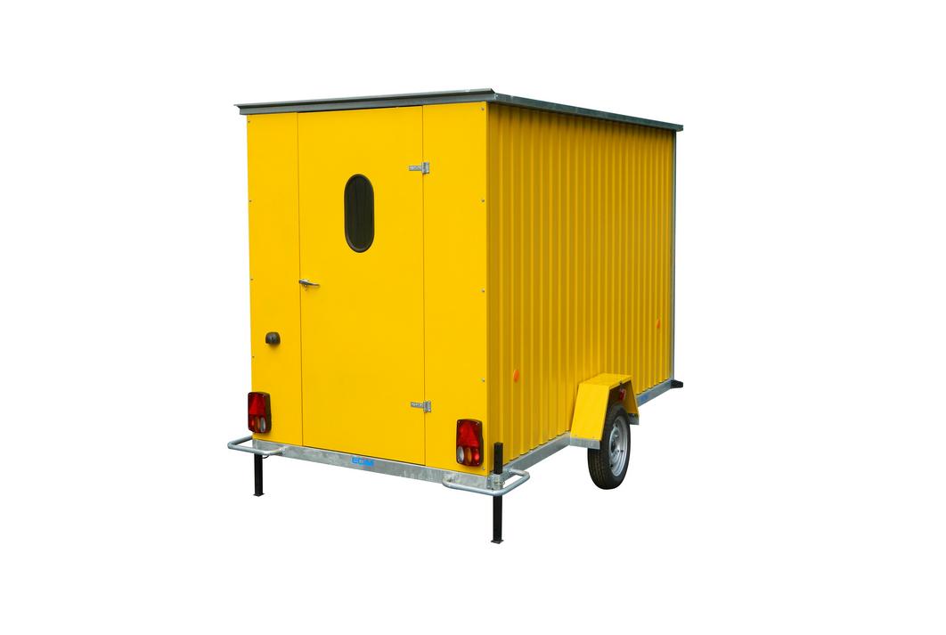 roulotte de chantier non isol e ecim abris de chantier roulant jfm. Black Bedroom Furniture Sets. Home Design Ideas
