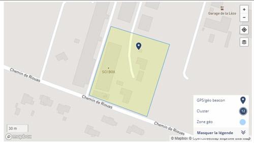 Zone géographique Traceur GPS