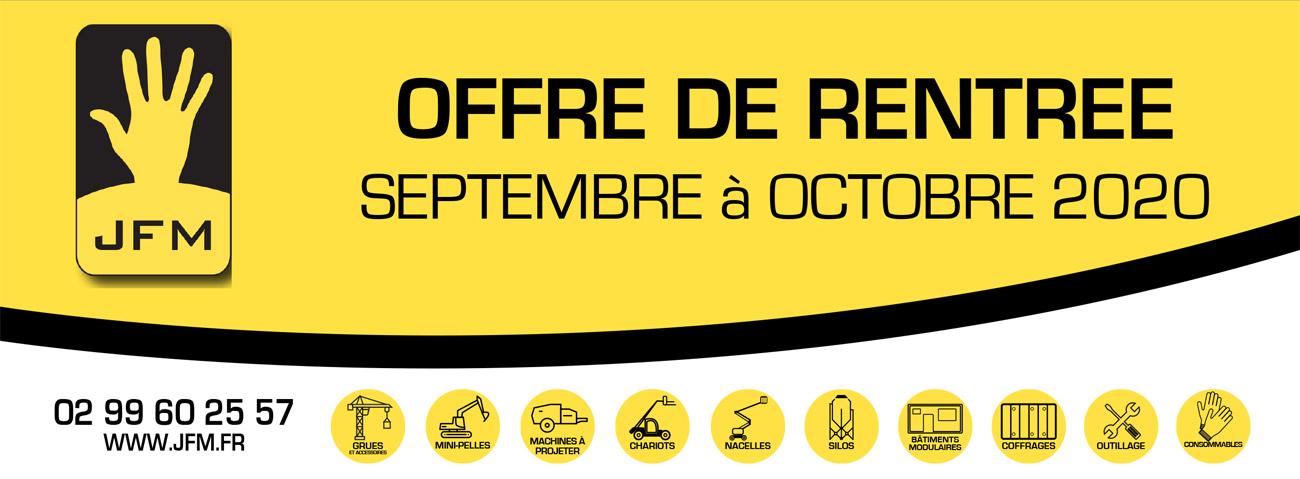 OFFRE DE RENTREE – Septembre à Octobre 2020