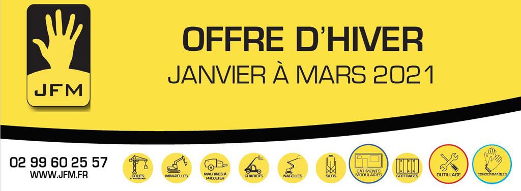 OFFRE D'HIVER – Janvier à Mars 2021