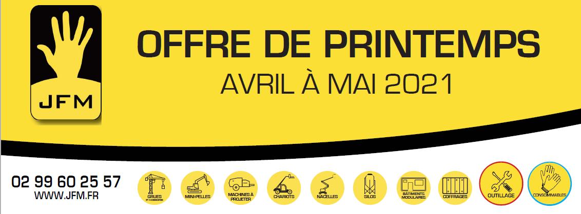OFFRE DE PRINTEMPS – Avril à Mai 2021